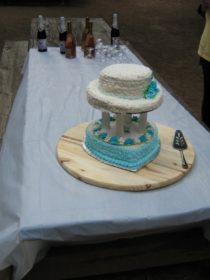 Andrew J. Wharton and Dave Clingman's cake created by Joann Swallow at their Commitment Ceremony
