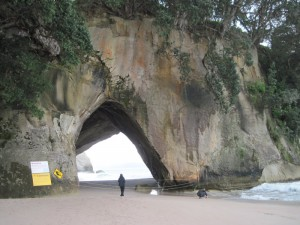 Cathedral Cove Archway, backdrop for Prince Caspian of The Chronicles of Narnia series