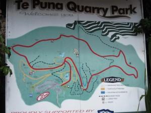 Map of Te Puna Quarry Park