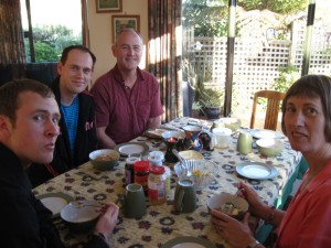 Christmas Breakfast at Andrew J. Wharton's Family's Home