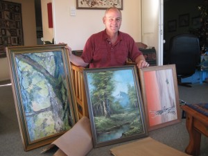 Dave Clingman receives paintings