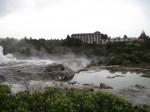 Geyserland Hotel from Te Puia's Pohutu Geyser