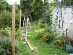 Grape Arbor Construction, Step 1, Setting Posts
