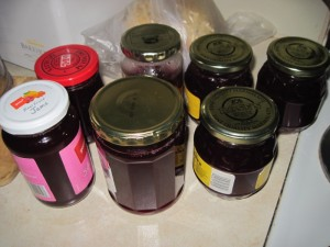 Home-made plum jam in New Zealand