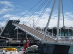 Wynward Crossing Bridge at Auckland's' Viaduct Harbour